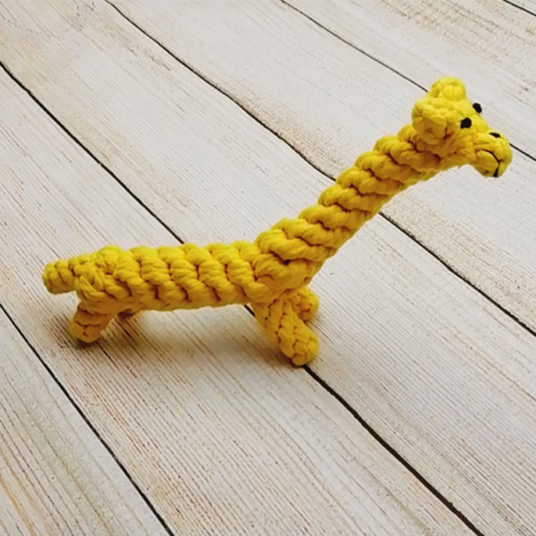 ZI-ZI-Eco-Braided-Rope-Pet-Toy-Giraffe