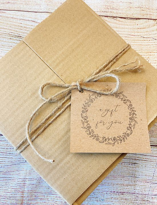 gift box with the tag