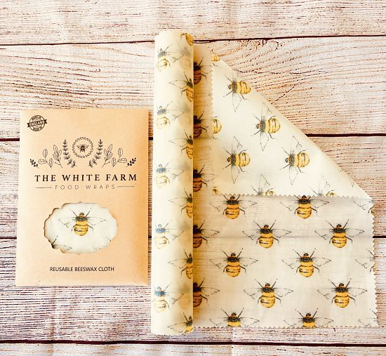 100% natural beeswax food wra