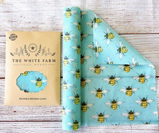natural long beeswax food wrap